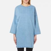 Waven Women's Bea Longline Top with Side Splits - Allie Blue - UK 8 - Blue