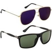 NuVew Aviator Sunglasses(Grey, Blue)