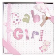 "Occasions Gift Giving - Baby Girl Photo Album, Holds 72 (4"" x 6"") Photos"