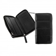 Portofel calatorie Nava Passenger Leather, negru