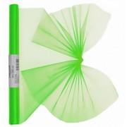 Geen Neon groene organza stof op rol 40 x 200 cm