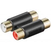 hbb 2 x RCA adapter - kabelförlängare Svart