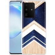 Samsung Galaxy S20 Ultra Hoesje Space wood