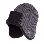 Zimowa czapka, uszatka męska - Szary