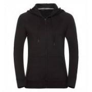 Ladies HD Zipped Hood Sweat Black