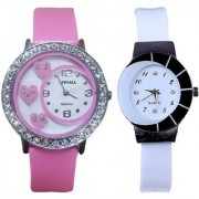 star colors letest collaction with beautiful attractive pink and white watch S09P20 Analog Watch - For Women