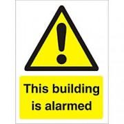 Unbranded Warning Sign Building Alarmed Plastic 30 x 20 cm