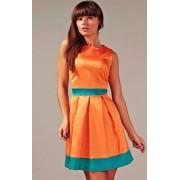 Elodie sukienka (pomarańczowo-turkusowy)