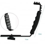 L Flash Bracket Mount 2Schoen Voor Camcorder Mic Microfoon Video Licht Camera