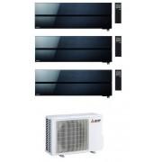 Mitsubishi Condizionatore Mitsubishi Kirigamine Style Wi-Fi Msz-Ln R-32 Nero Trial Split 9000+9000+9000 Btu A+++ Mxz-3f54vf