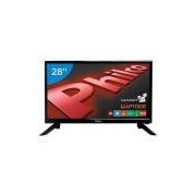 Smart TV LED 28 Polegadas Philco PH28N91DSGWA Conversor Digital HD 2 HDMI 2 USB