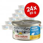 6x85g Almo Nature Holistic Specialised Nutrition nedves macskatáp- Sterilised csirke