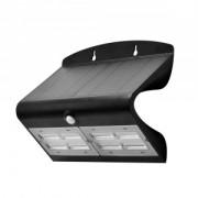 Napelemes LED lámpa 7 Watt mozgásérzékelővel fekete
