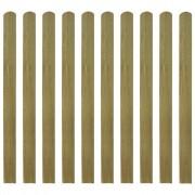 vidaXL Șipci de gard din lemn tratat, 20 buc, 120 cm, lemn FSC