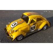 Masina retro VW beetle galbena