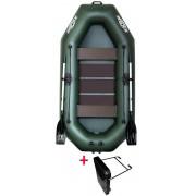 Čln Kolibri K-280 T zelený, lamelová podlaha + držiak