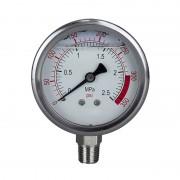 """Glicerines nyomásmérő óra - manométer - feszmérő 0-25 bar 1/4"""" (vertikális)"""