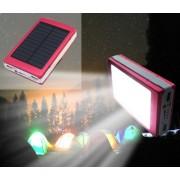 Външна мобилна акумулаторна батерия със Соларен и Лед панел Power Bank 16000 mah