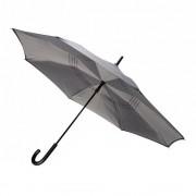 Umbrela 23 inch reversibila, manuala, Everestus, RE, poliester 190T, gri, saculet de calatorie inclus