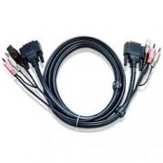 Aten Cavo KVM USB DVI-D Single Link 3m, 2L-7D03U