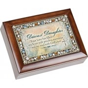 Dearest Daughter Your Love Has Filled My Heart Jewel Musical Music Jewelry Box Plays Amazing Grace
