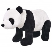 vidaXL Standing Plush Toy Panda Black and White XXL