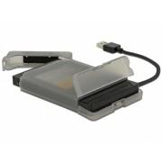 "ADAPTOR USB 3.0 LA SATA III PENTRU HDD 2.5"" CU CARCASA PROTECTIE 15CM, DELOCK"