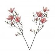 Shoppartners 2x Roze Magnolia/beverboom kunsttakken kunstplanten 90 cm