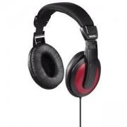 Слушалки HAMA Basic4Music HK-5618, 2 м кабел, 3.5/6.3 мм жак, черно-червен, HAMA-184012