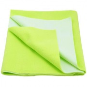 Glassiano Waterproof Baby Bed Protector Dry Sheet (140x220 CM) Single Bed Size Pista Green