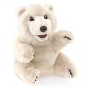 Folkmanis Sitting Polar Bear Hand Puppet