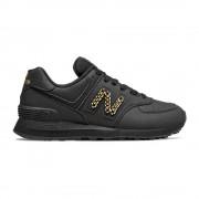 New Balance Sneakers 574 Lea Nero Metal Catena Donna EUR 37.5 / US 7