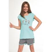Zebra lányka pizsama türkiz 8692