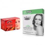 Nature's Essence Ravishing Mini Diamond Facial Kit 52g + 60ml Pink Root Mix Fruit Bleach 250g