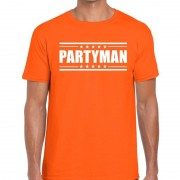 Bellatio Decorations Partyman t-shirt oranje heren