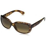Ray-Ban RB4101 Jackie Ohh Sunglasses, Havana/Light Brown Gradient Black, 58 mm