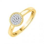 KATARINA Anillo de compromiso de racimo de diamantes en oro de 10 K (1/8 quilates, J-K, SI2-I1)