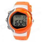 reloj digital multifuncional contador de calorias de la frecuencia del pulso - naranja (1 x 2032)