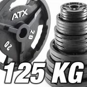 ATX Vorteilspaket! 125 kg Hantelscheiben ATX® - Guss 50 mm - feste Sortierung