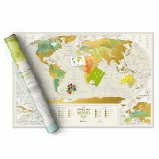 """Световна Скреч Карта """"География"""""""