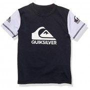 Quiksilver Little Heats on Playera de Surf de Manga Corta para niño, Azul Marino, 4