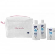 Chicco Set Regalo Chicco Baby Moments Beauty Essential con Zip Rosa