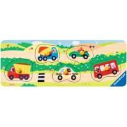 Puzzle din lemn Ravensburger - Vehicule, 5 piese (03236)