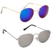 Phenomenal Oval Sunglasses(Green, Silver)