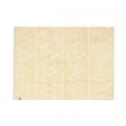 Miliboo Teppich Baumwolle 120 x120 cm Gelb ALISHIA