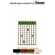 Raft din lemn tip display pentru 88 sticle