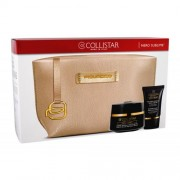 Collistar Nero Sublime Sublime Black Precious Cream подаръчен комплект дневен крем за лице 50 ml + маска за лице 15 ml + козметична чантичка Piquadro