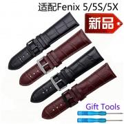 20mm 22mm 26mm Quality genuine leather watch band brown black watch Bracelet for Garmin Fenix 5S/5/5x