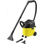 Aspirator cu spalare Karcher SE 5100, Aspirare umeda si uscata, Rezervor apa curata 4 l, Rezervor apa murdara 4 l, Furtun 2 m, 1400 W, Sac filtru din hartie, Galben/Negru