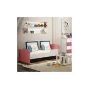 Mini Cama Infantil com Proteção Lateral 1590 Baby Móveis Percasa Branco/Rosa